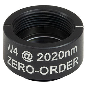 WPQSM05-2020 - Ø1/2in Zero-Order Quarter-Wave Plate, SM05-Threaded Mount, 2020 nm
