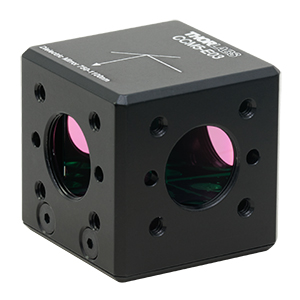 CCM5-E03 - 16 mm Cage-Cube-Mounted Dielectric Turning Prism Mirror, 750-1100 nm, 8-32 Tap