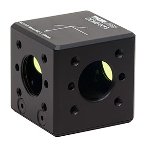 CCM5-K13 - 16 mm Cage-Cube-Mounted Nd:YAG Turning Prism Mirror, 532 and 1064 nm, 8-32 Tap