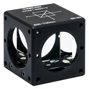 CCM1-BS013 - 30 mm Cage Cube-Mounted Non-Polarizing Beamsplitter, 400 - 700 nm, 8-32 Tap