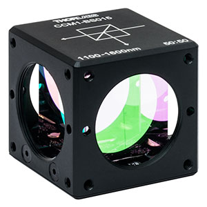 CCM1-BS015 - 30 mm Cage Cube-Mounted Non-Polarizing Beamsplitter, 1100 - 1600 nm, 8-32 Tap