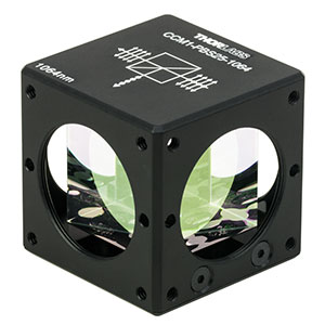 CCM1-PBS25-1064 - 30 mm Cage-Cube-Mounted Polarizing Beamsplitter Cube, 1064 nm, 8-32 Tap