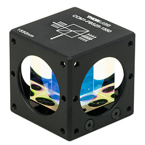 CCM1-PBS25-1550 - 30 mm Cage-Cube-Mounted Polarizing Beamsplitter Cube, 1550 nm, 8-32 Tap