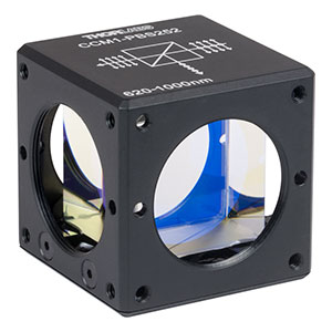 CCM1-PBS252 - 30 mm Cage Cube-Mounted Polarizing Beamsplitter Cube, 620-1000 nm, 8-32 Tap