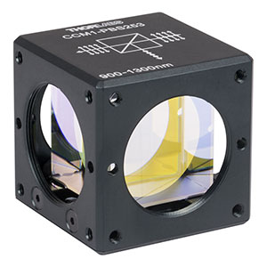 CCM1-PBS253 - 30 mm Cage Cube-Mounted Polarizing Beamsplitter Cube, 900-1300 nm, 8-32 Tap