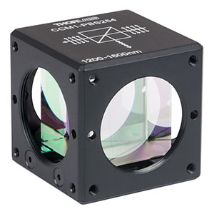 CCM1-PBS254 - 30 mm Cage Cube-Mounted Polarizing Beamsplitter Cube, 1200-1600 nm, 8-32 Tap