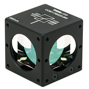 CCM1-PBS25-980 - 30 mm Cage-Cube-Mounted Polarizing Beamsplitter Cube, 980 nm, 8-32 Tap