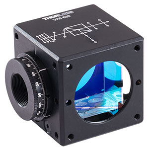 VA5-633 - 30 mm Cage Cube-Mounted Variable Beamsplitter for 633 nm, 8-32 Tap