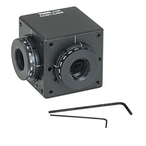 CCM1-C4ER - Clamping 4-Port Prism/Mirror 30 mm Cage Cube, 2 Rotation Mounts @ 90°, 8-32 Tap