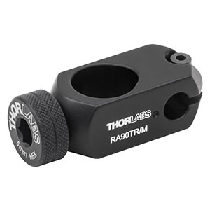 RA90TR/M - Right-Angle Ø1/2in to Ø6 mm Post Clamp, 5 mm Hex Thumbscrew