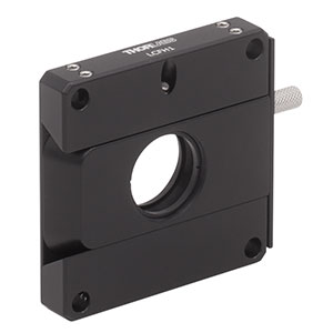 LCFH1 - 60 mm Cage System Removable Filter Holder for Ø1in Optics, Plate and Holder Included, 8-32 Tap