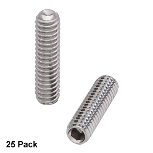 SS25S10 - 1/4in-20 Stainless Steel Setscrew, 1in Long, 25 Pack