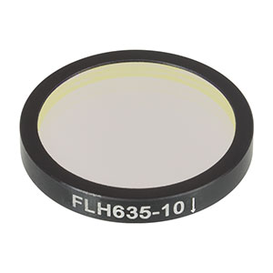 FLH635-10 - Premium Bandpass Filter, Ø25 mm, CWL = 635 nm, FWHM = 10 nm