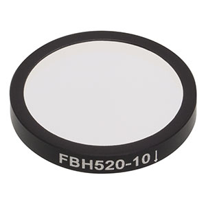 FBH520-10 - Premium Bandpass Filter, Ø25 mm, CWL = 520 nm, FWHM = 10 nm