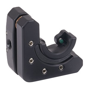 KM05DL - Left-Handed Kinematic Mount for Ø1/2in D-Shaped Mirrors, 8-32 Taps