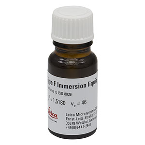 MOIL-10LF - Very Low Autofluorescence Immersion Oil, n = 1.518, Leica Type F, 10 mL