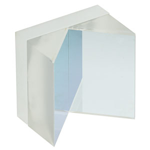 HRS1015-F01 - 1in x 1in Hollow Roof Prism Mirror, UV Enhanced Aluminum