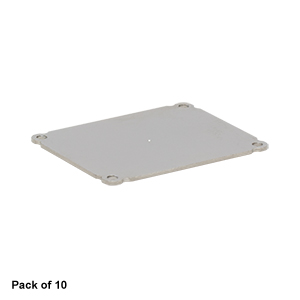 EEDEP10 - Blank End Plate for Customizable Electronics Housing, 1.75in x 2.25in, Qty. 10