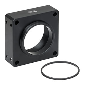LCP11/M - 60 mm Cage Plate, Internal and External SM2 Threads, M4 Tap (One SM2RR Retaining Ring Included)