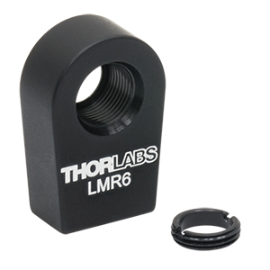 LMR6 - Lens Mount with Retaining Ring for Ø6 mm Optics, 8-32 Tap