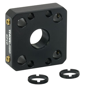 SP10 - 16 mm Cage Plate for Ø8 mm Optic, 2 SM8RR Retaining Rings Included
