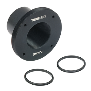 SM2Y2 - Olympus BX or IX Microscope Eyepiece Adapter, Internal SM1 and External SM2 Threads, 30 mm Cage Compatibility