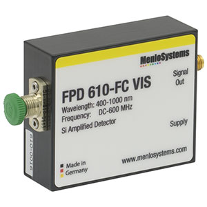 FPD610-FC-VIS - Si Fixed Gain, High Sensitivity PIN Amplified Detector, 400 to 1000 nm, DC - 600 MHz