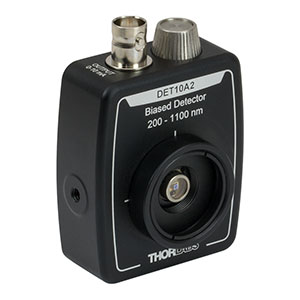 DET10A2 - Si Detector, 200 - 1100 nm, 1 ns Rise Time, 0.8 mm<sup>2</sup>, Universal 8-32 / M4 Mounting Holes