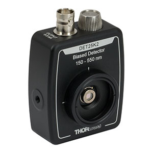 DET25K2 - GaP Detector, 150 - 550 nm, 55 ns Rise Time, 4.8 mm<sup>2</sup>, Universal 8-32 / M4 Mounting Holes