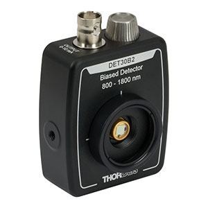 DET30B2 - Ge Detector, 800 - 1800 nm, 650 ns Rise Time, 7.1 mm<sup>2</sup>, Universal 8-32 / M4 Mounting Holes