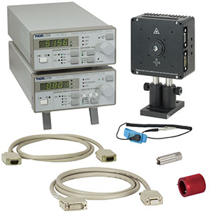 LTC56A - Laser Diode Starter Set with Current and Temperature Controllers, Mount, Accessories, Optic for 350-700 nm, Imperial