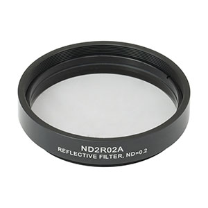 ND2R02A - Reflective Ø50 mm ND Filter, SM2-Threaded Mount, Optical Density: 0.2