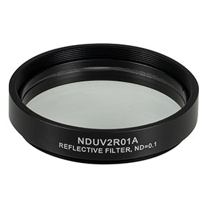 NDUV2R01A - SM2-Threaded Mount, Ø50 mm UVFS Reflective ND Filter, OD: 0.1