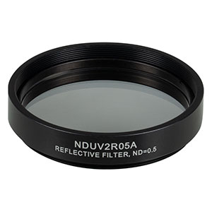 NDUV2R05A - SM2-Threaded Mount, Ø50 mm UVFS Reflective ND Filter, OD: 0.5