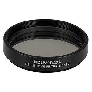 NDUV2R20A - SM2-Threaded Mount, Ø50 mm UVFS Reflective ND Filter, OD: 2.0