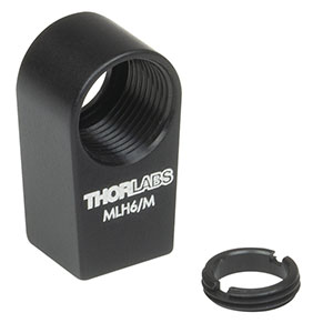 MLH6/M - Mini-Series Lens Mount with Retaining Ring for Ø6 mm Optics, M3 Tap