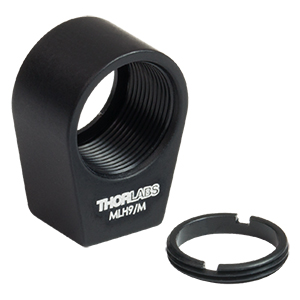 MLH9/M - Mini-Series Lens Mount with Retaining Ring for Ø9 mm Optics, M3 Tap