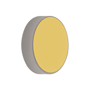 CM254-150-M01 - Ø1in Gold-Coated Concave Mirror, f = 150.0 mm