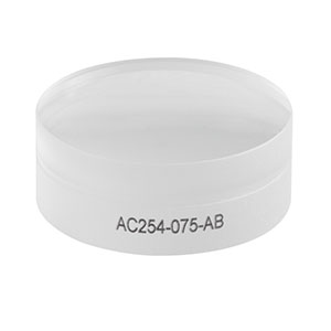 AC254-075-AB - f = 75.0 mm, Ø1in Achromatic Doublet, ARC: 400 - 1100 nm