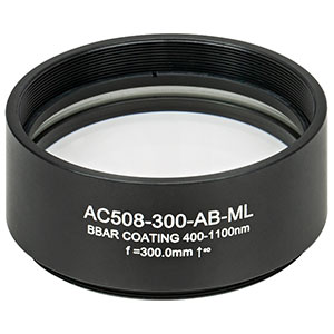 AC508-300-AB-ML - f = 300.0 mm, Ø2in Achromatic Doublet, SM2-Threaded Mount, ARC: 400 - 1100 nm