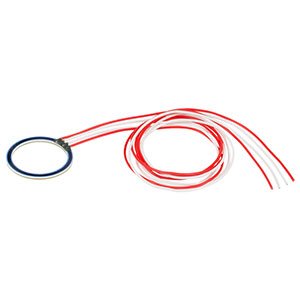 HT10KR - 10 W Metal Ceramic Ring Heater with 10 kΩ Thermistor, 25 mm O.D., 20 mm I.D.