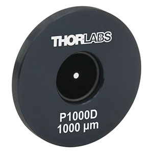 P1000D - Ø1in Mounted Precision Pinhole, 1000 ± 10 µm Pinhole Diameter