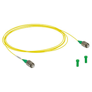 P3-780Y-FC-2 - Single Mode Patch Cable, 780 - 970 nm, FC/APC, Ø900 µm Jacket, 2 m Long