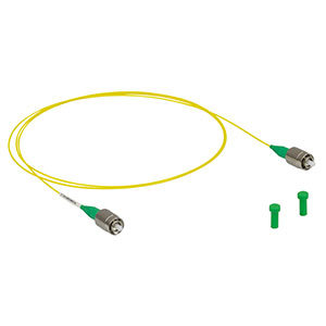 P3-SMF28Y-FC-1 - Single Mode Patch Cable, 1260-1625 nm, FC/APC, Ø900 µm Jacket, 1 m Long