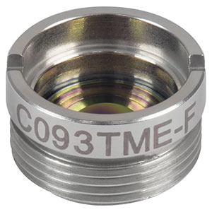 C093TME-F - f = 3.0 mm, NA = 0.71, Mounted Geltech Aspheric Lens, ARC: 8- 12 µm