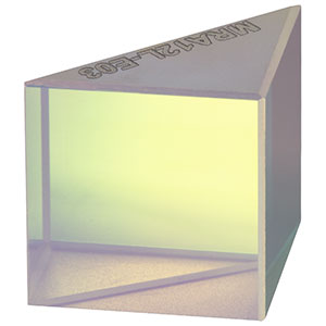 MRA12L-E03 - Leg-Coated Right-Angle Prism Dielectric Mirror, 750 - 1100 nm, L = 12.5 mm