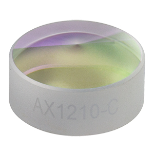 AX1210-C - 10.0°, 1050 - 1700 nm AR Coated UVFS, Ø1/2in (Ø12.7 mm) Axicon