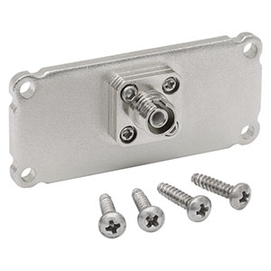 EEBFPA1 - End Plate for Customizable Electronics Housing, FC/APC Bulkhead, 1.00in x 2.25in