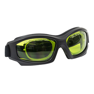 LG1C - Laser Safety Goggles, Light Green Lenses, 59% Visible Light Transmission, Modern Goggle Style