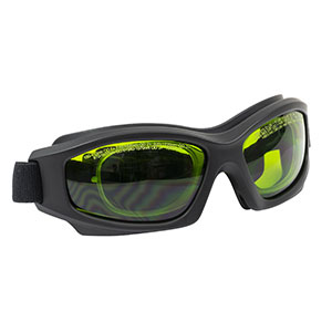 LG2C - Laser Safety Goggles, Green Lenses, 19% Visible Light Transmission, Modern Goggle Style